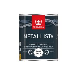 Эмаль по ржавчине для наружных и внутренних работ Tikkurila Metallista | Тиккурила Металлиста, глянцевая, база A, 0.9 л, 700011700