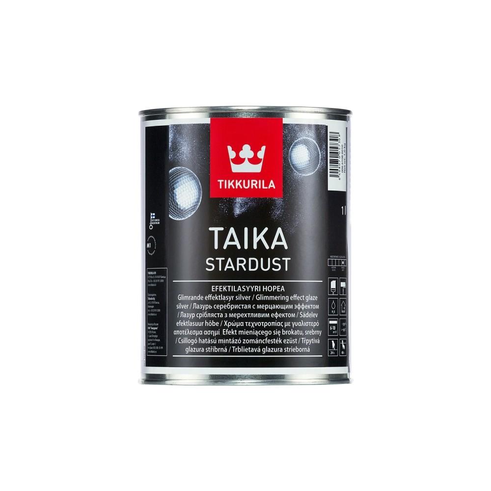 Лазурь декоративная интерьерная Tikkurila Taika Stardust | Тиккурила Тайка Стардаст, глубокоматовая, серебристая, 1 л, 00661080010