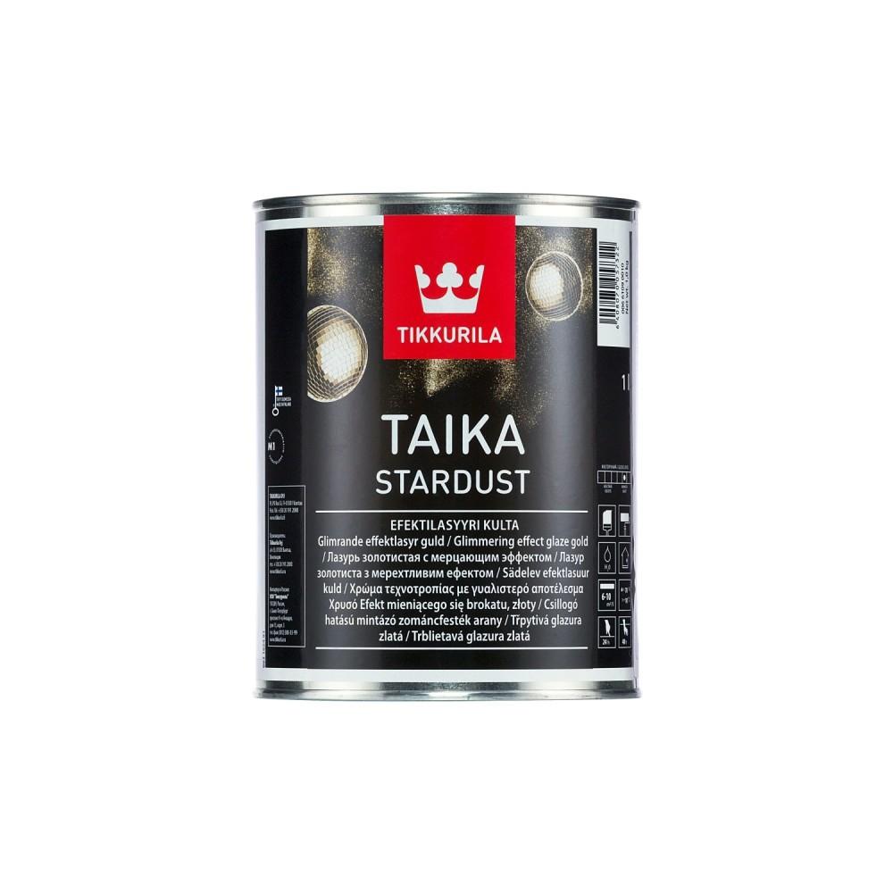 Лазурь декоративная интерьерная Tikkurila Taika Stardust | Тиккурила Тайка Стардаст, глубокоматовая, золотистая, 1 л, 00661090010