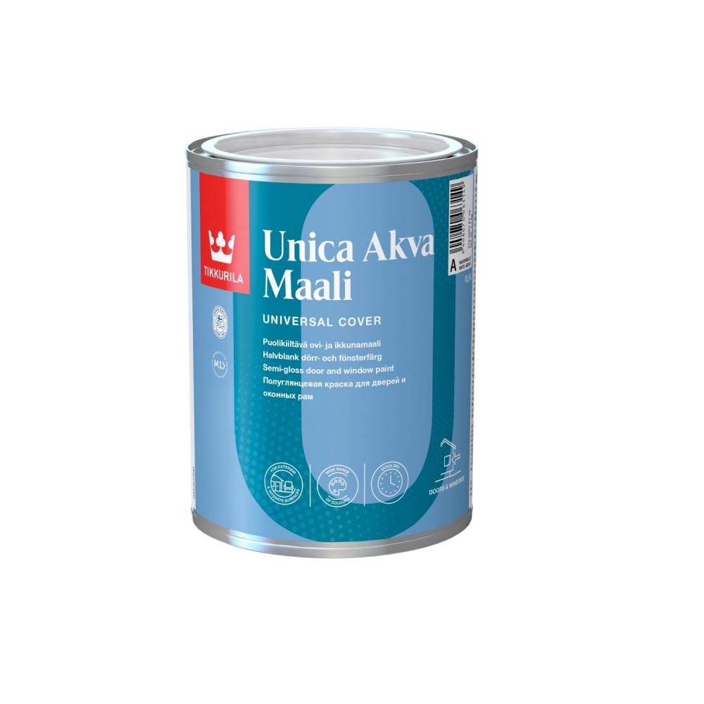 Эмаль акрилатная для дверей и оконных рам универсальная Tikkurila Unica Akva Maali | Тиккурила Уника Аква Маали 47860010304_cfg