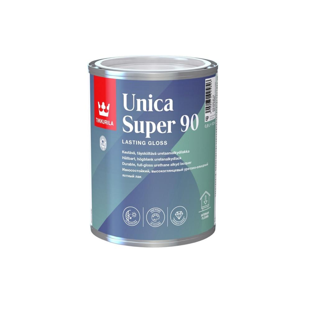 Лак износостойкий универсальный для наружных и внутренних работ Tikkurila Unica Super 90 | Тиккурила Уника Супер 90 55664040110_cfg