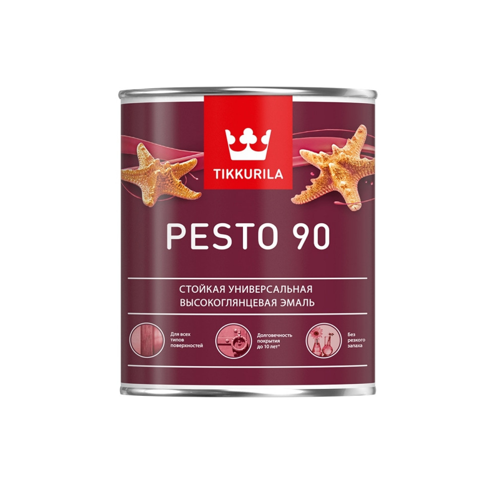 Эмаль стойкая универсальная для наружных и внутренних работ Tikkurila Pesto 90 | Тиккурила Песто 90 700001076_cfg