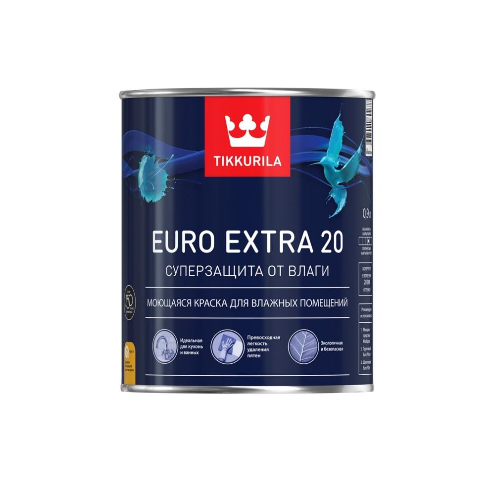 Краска моющаяся для влажных помещений Tikkurila Euro Extra 20 | Тиккурила Евро Экстра 20 700001105_cfg