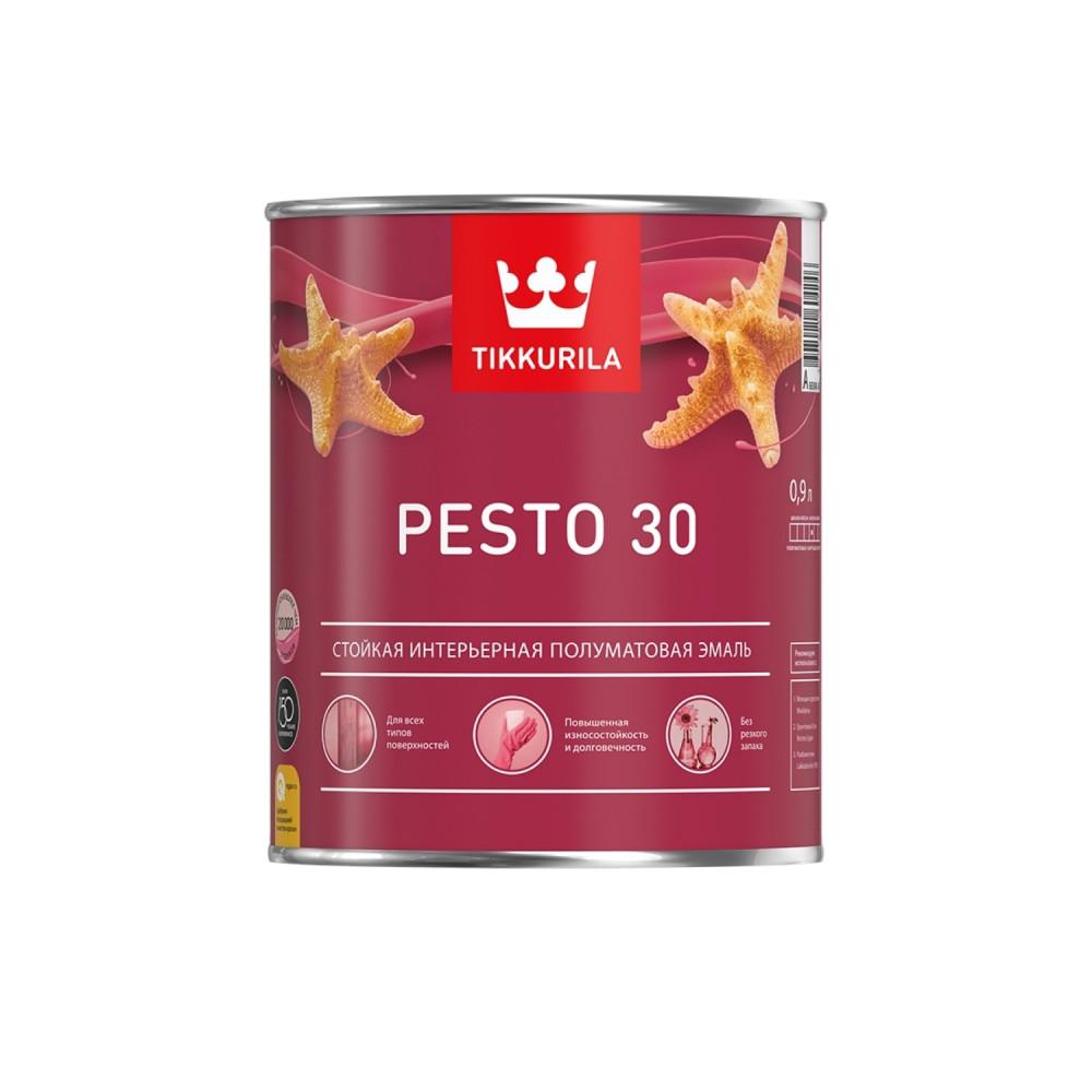 Эмаль стойкая универсальная для наружных и внутренних работ Tikkurila Pesto 30 | Тиккурила Песто 30 700001170_cfg