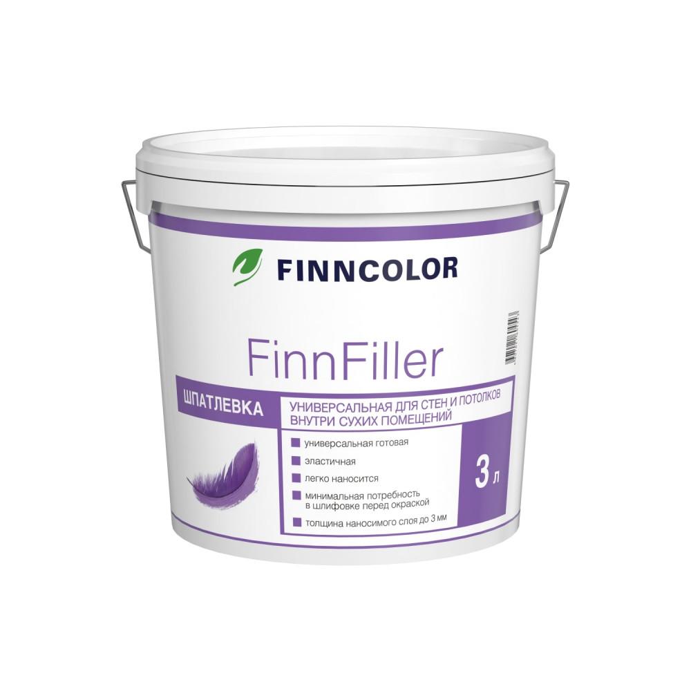 Шпатлевка финишная для стен и потолков Finncolor Finnfiller, 700008046_cfg