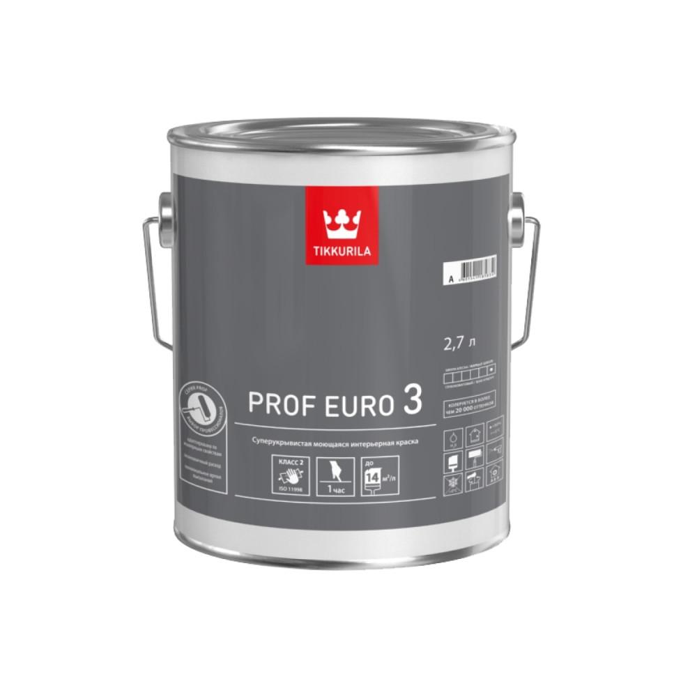 Краска супер укрывистая моющаяся интерьерная Tikkurila Prof Euro 3 | Тиккурила Проф Евро 3 700009635_cfg