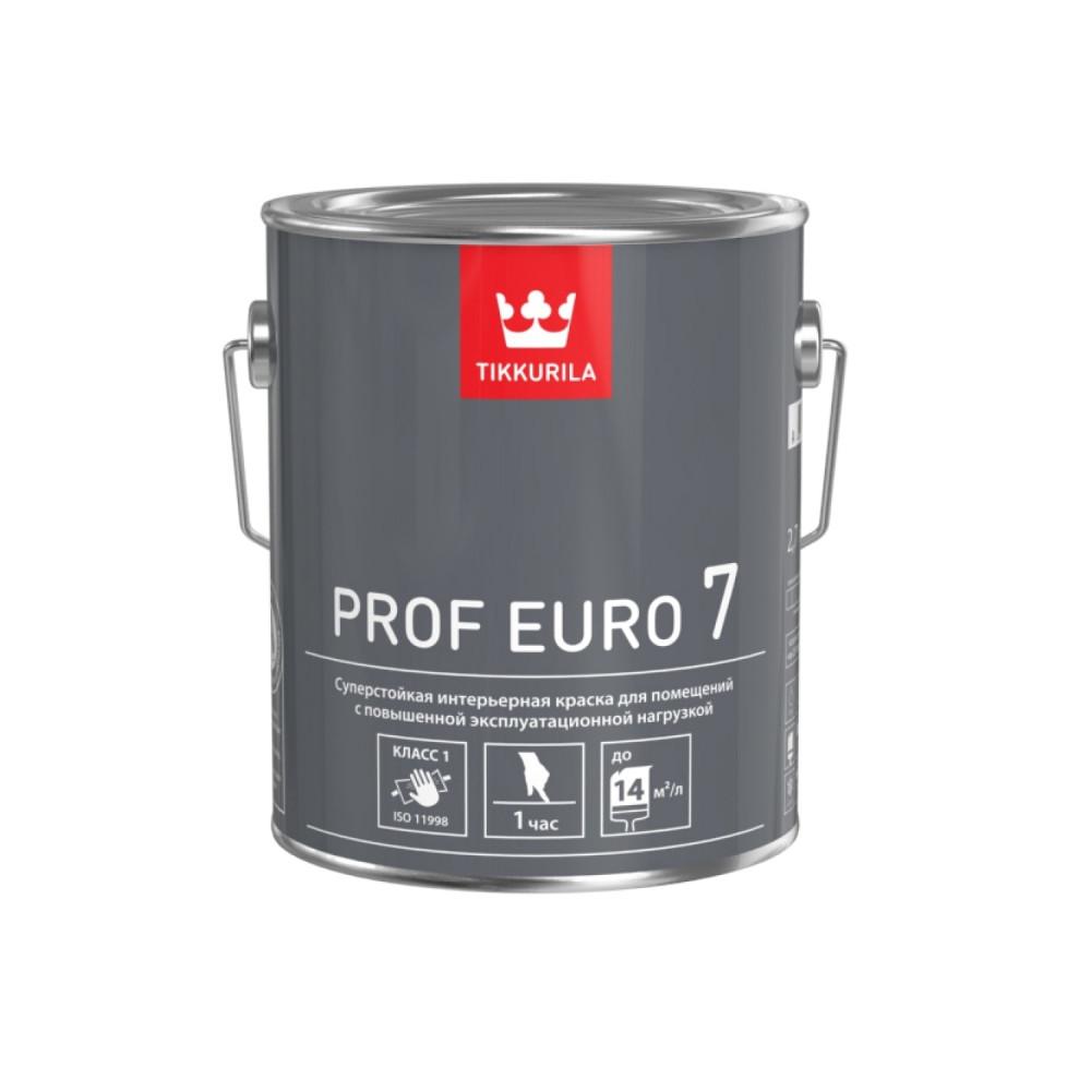 Краска суперстойкая для помещений с повышенной эксплуатационной нагрузкой Tikkurila Prof Euro 7 | Тиккурила Проф Евро 7 700009641_cfg