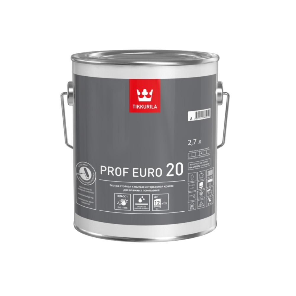 Краска экстра-стойкая для влажных помещений Tikkurila Prof Euro 20 | Тиккурила Проф Евро 20 700009645_cfg