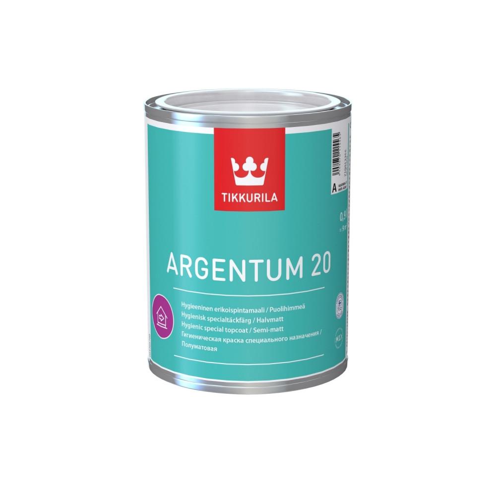 Краска антимикробная с серебром для стен и потолков Tikkurila Argentum 20 | Тиккурила Аргентум 20 710012255_cfg