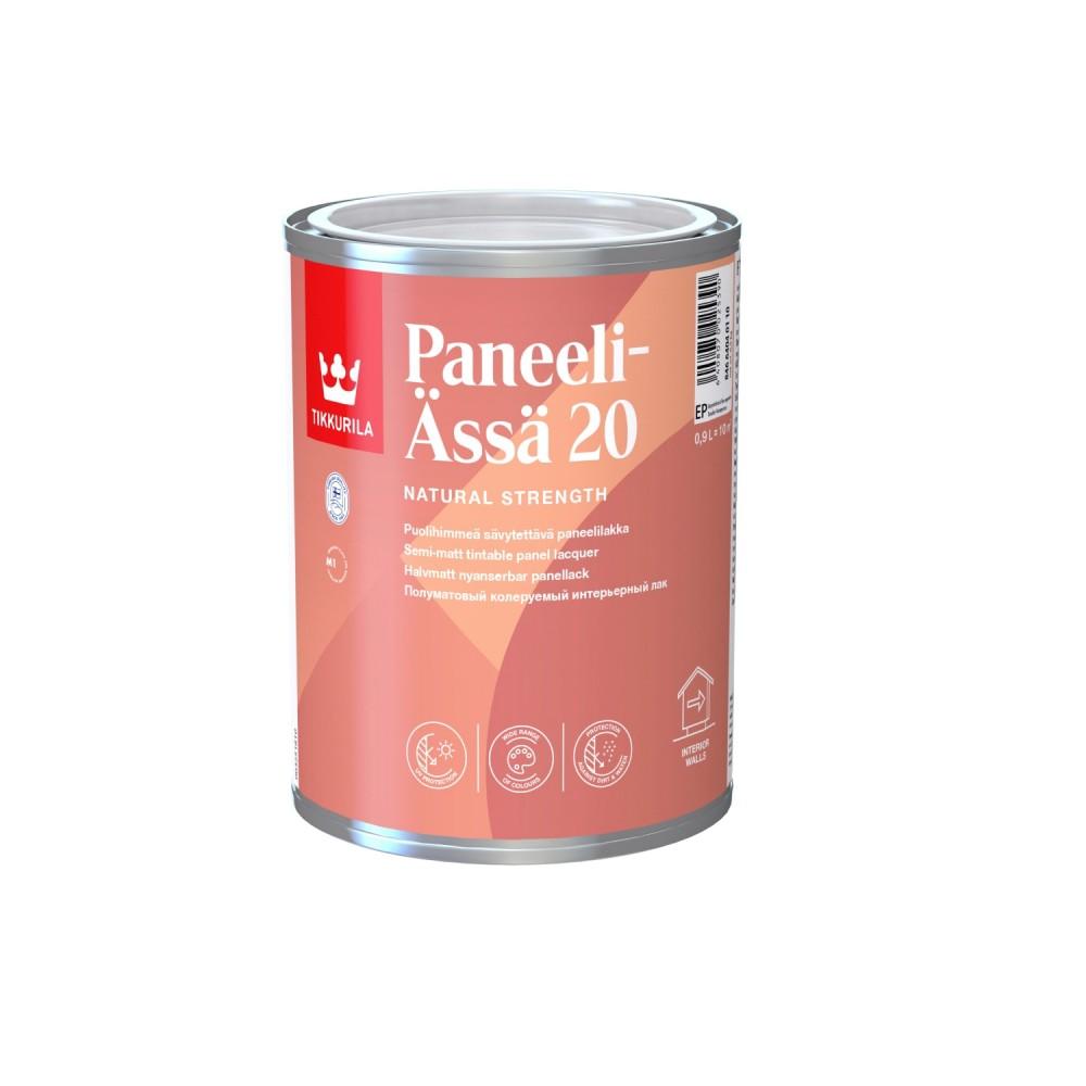 Лак интерьерный Tikkurila Paneeli-Ässä 20 | Тиккурила Панели-Асся 20, полуматовый, 0.9 л, 84664040110