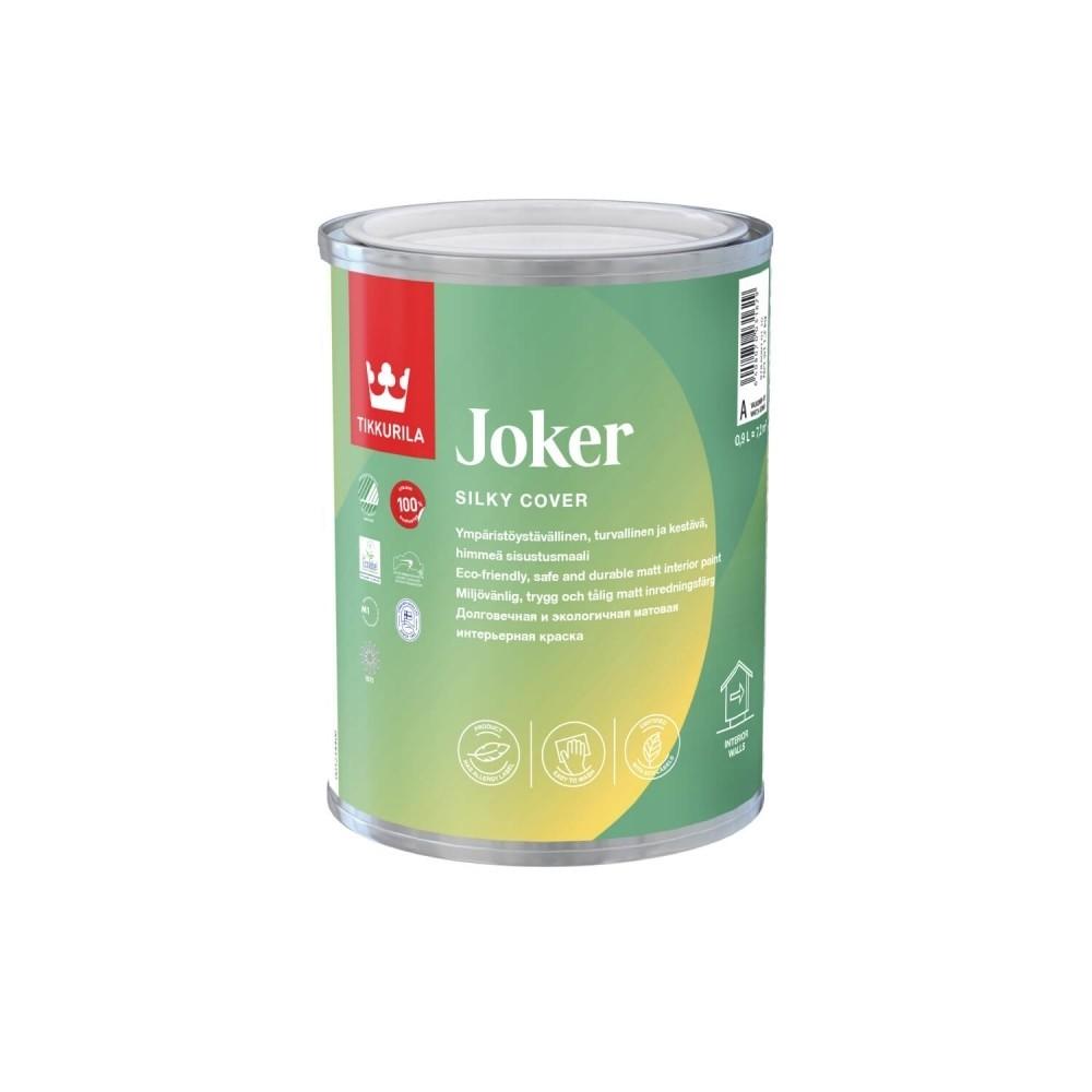 Краска моющаяся с шелковистым эффектом интерьерная Tikkurila Joker | Тиккурила Джокер 87860010304_cfg