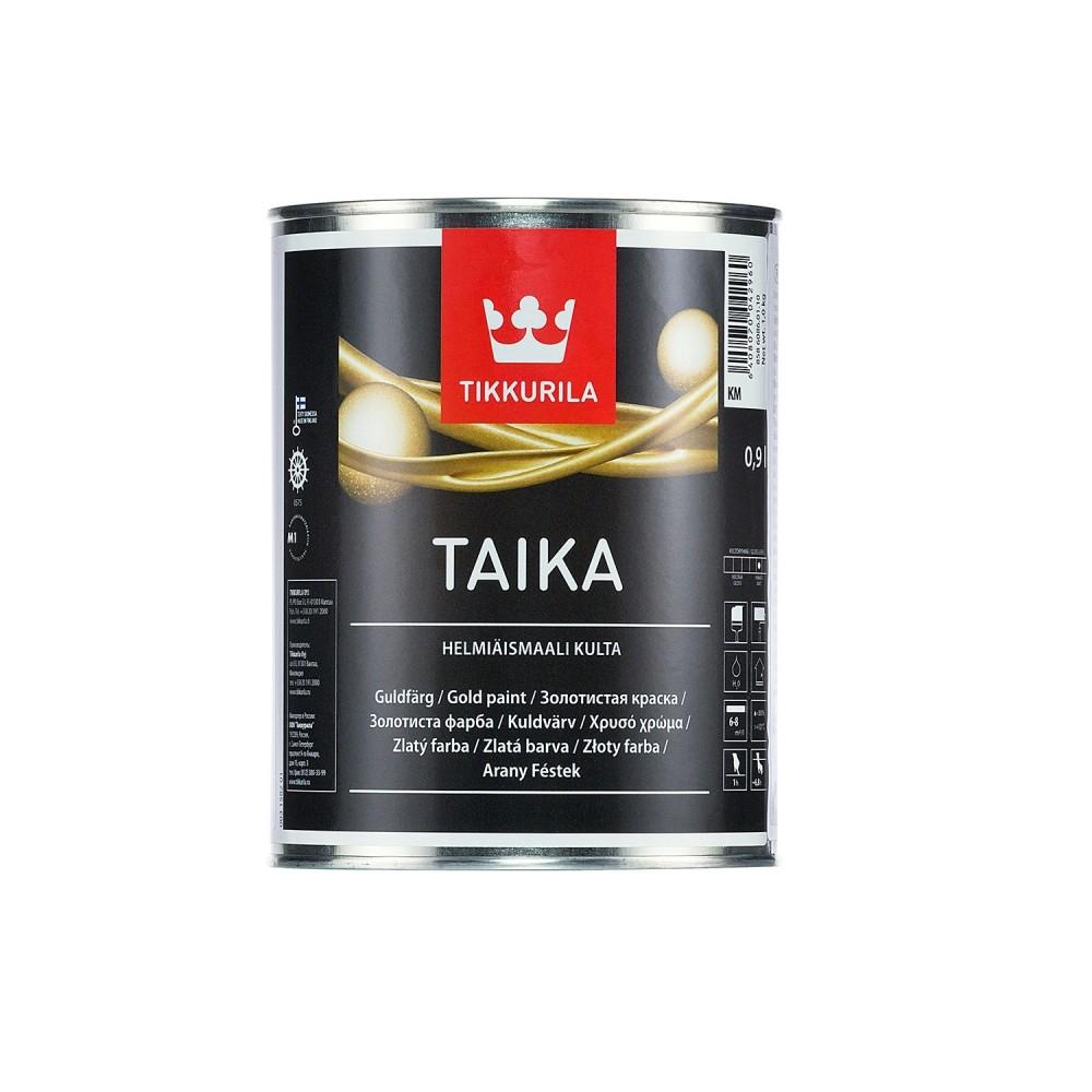 Краска декоративная интерьерная Tikkurila Taika Helmiäismaali Kulta | Тиккурила Тайка, полуглянцевая, золото, 0.9 л, 85860860110